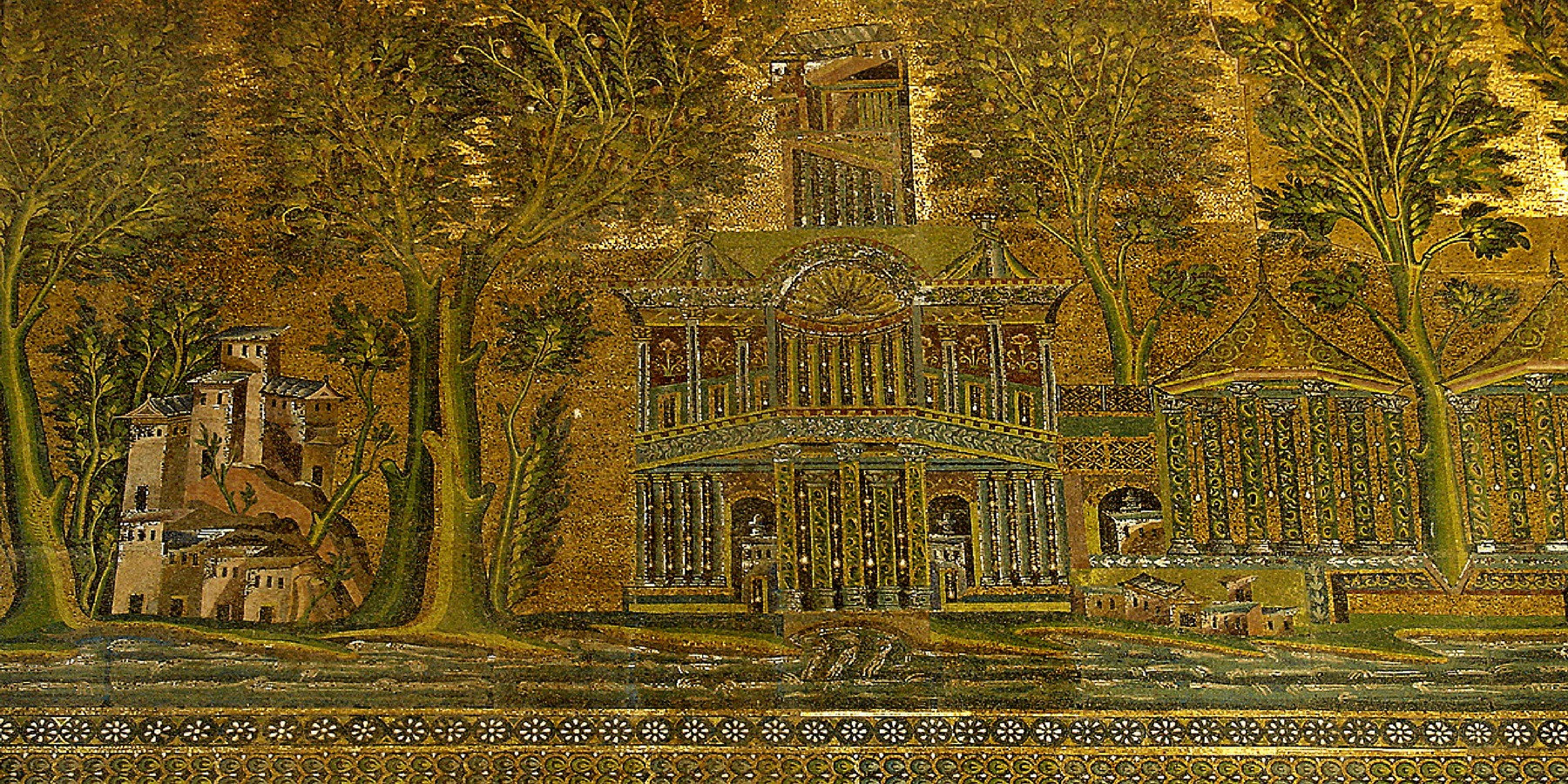 Omayyad's-mosque mosaic